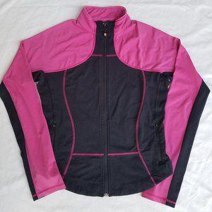 Lululemon Full Zip Mock Neck Color Block Jacket